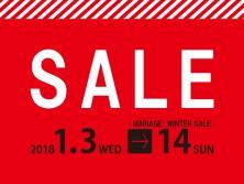 ウィンターセール開催1月3日(水)〜1月14日(日)