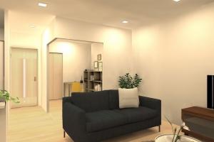 上からみた図だけでなく実際に部屋の中に入ったイメージを見れるのが3Dプランニングの特徴です。