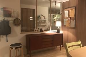 アクタスオリジナルH・W・Fサイドボード。北欧ヴィンテージ家具の良さをマホガニー材で表現したシリーズ。